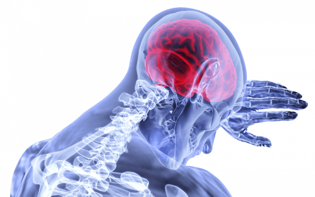 Picture of a skeletal person showing sign of brain activity